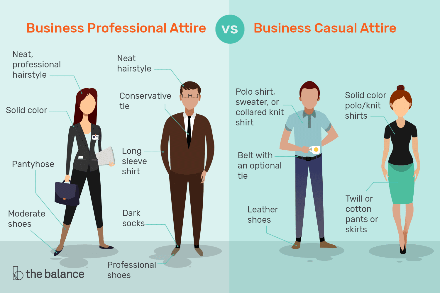 f905c50aecb Business Professional Attire vs. Business Casual Attire