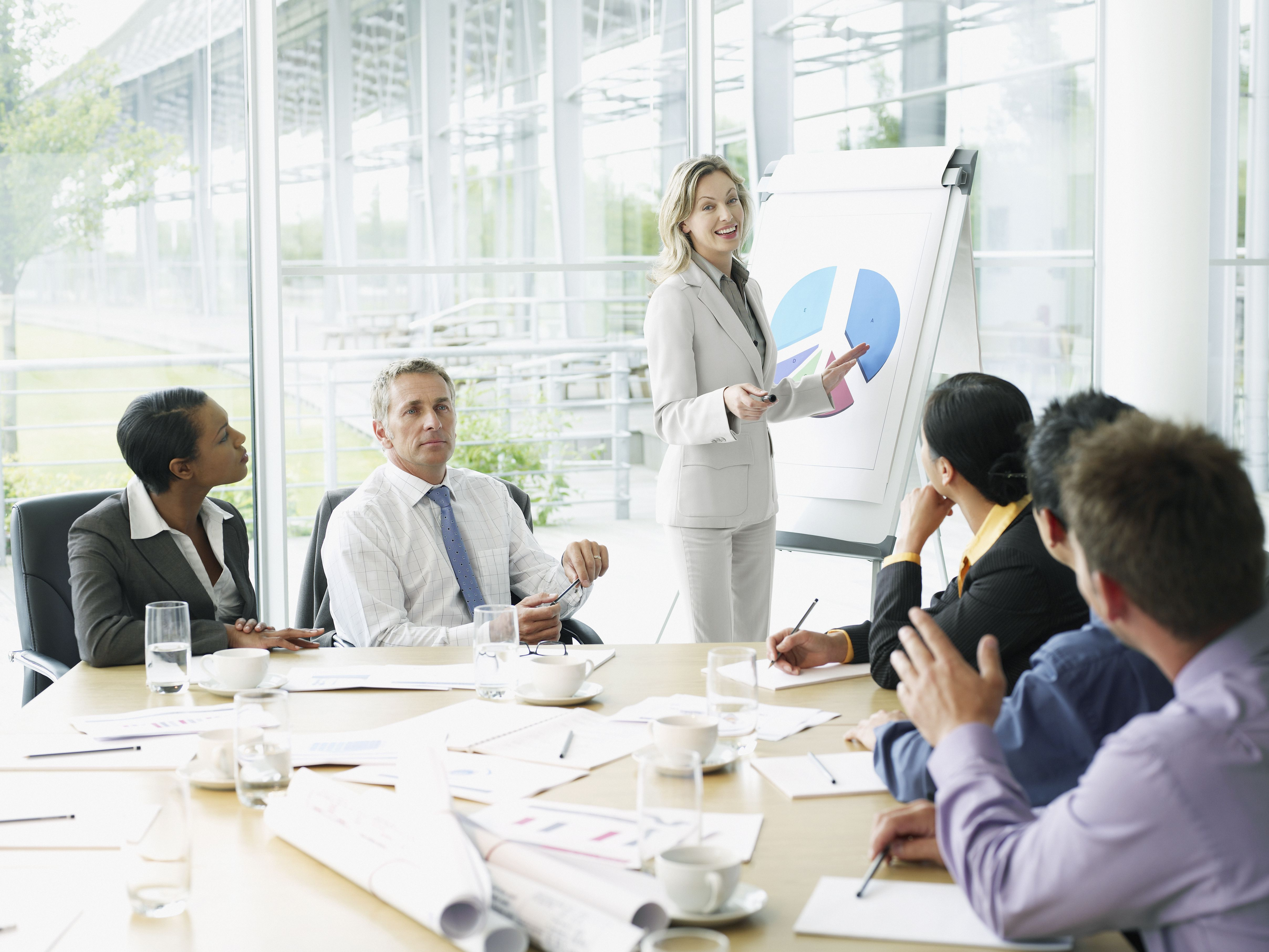 Businesspeople having meeting in conference room