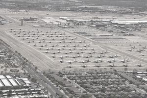 Davis-Monthan Air Force Base boneyard in Arizona.