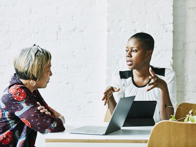 Women in an interview in office conference room