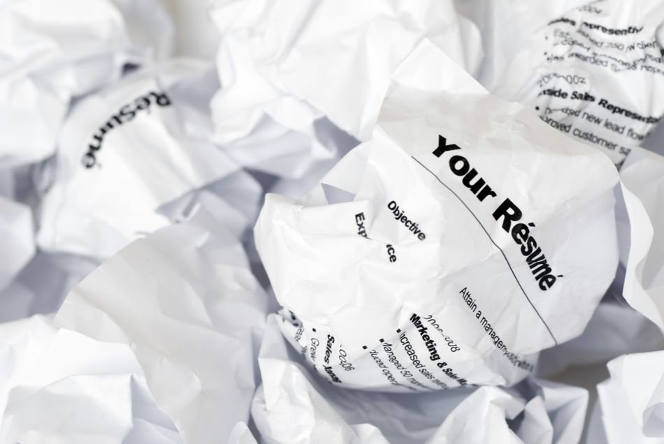 crumpled resume