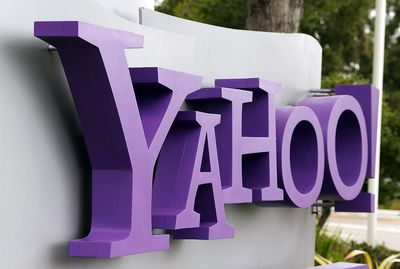 Entrance sign at Yahoo! headquarters