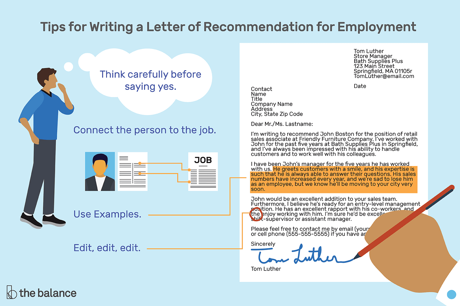tips for writing a letter of recommendation for employment melissa ling the balance 2018