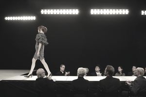 Fashion Model on Runway during a convention
