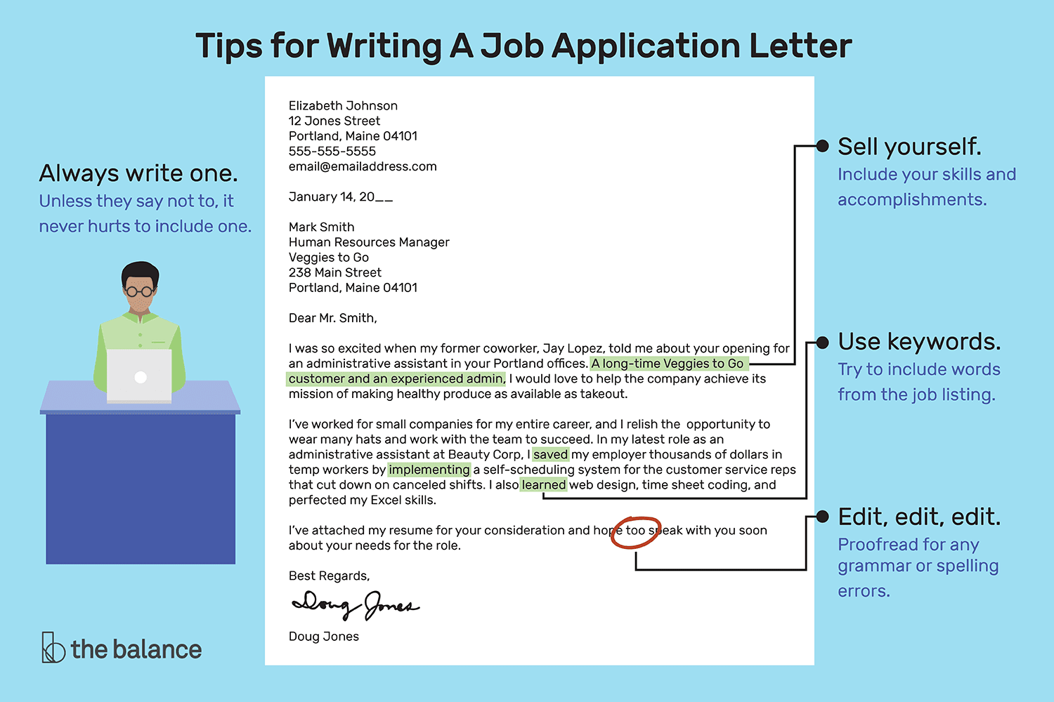 How to write an application letter for a job vacancy