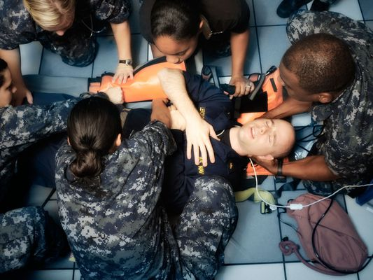 Participants in the Navy Medic Course