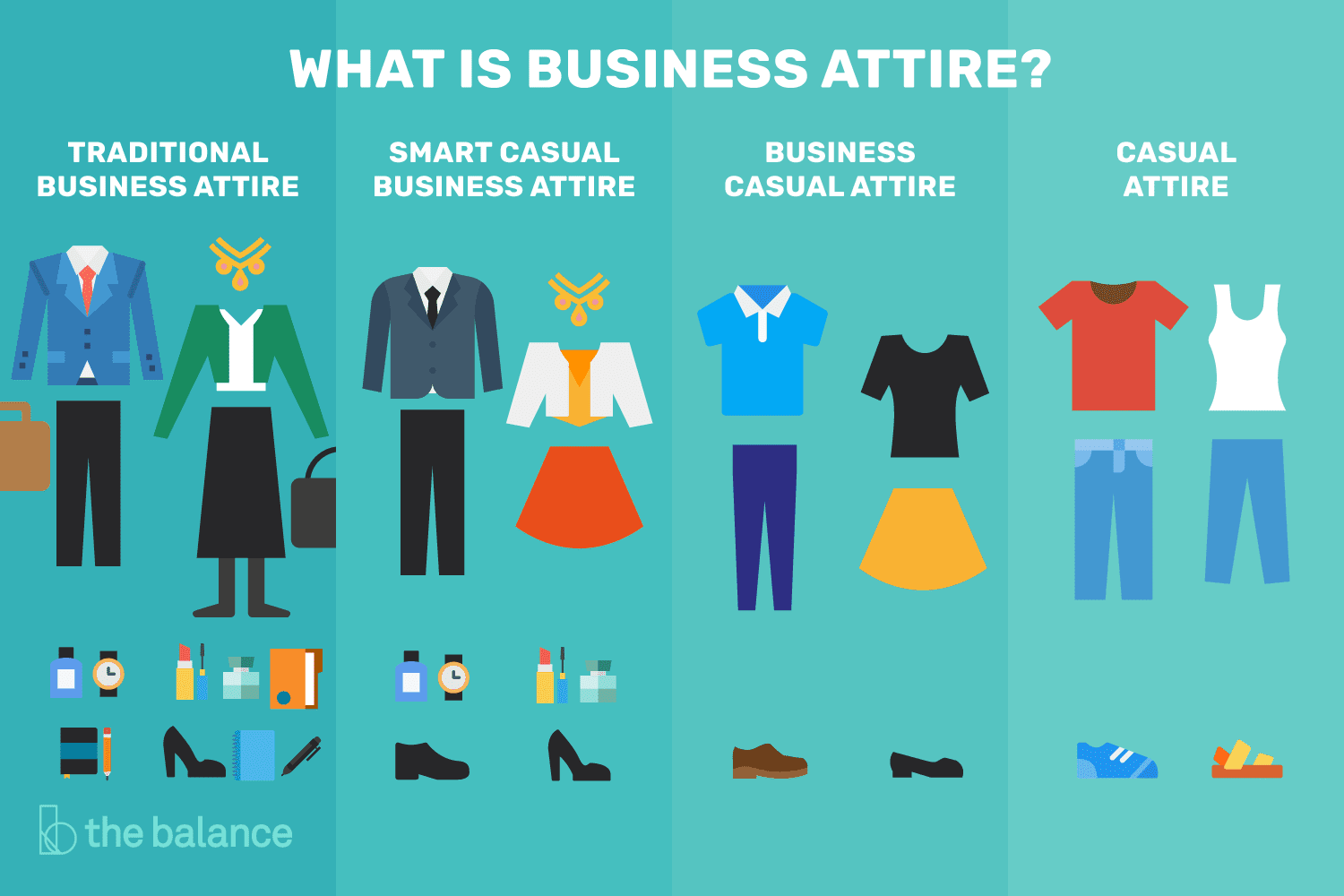 degrees of business attire