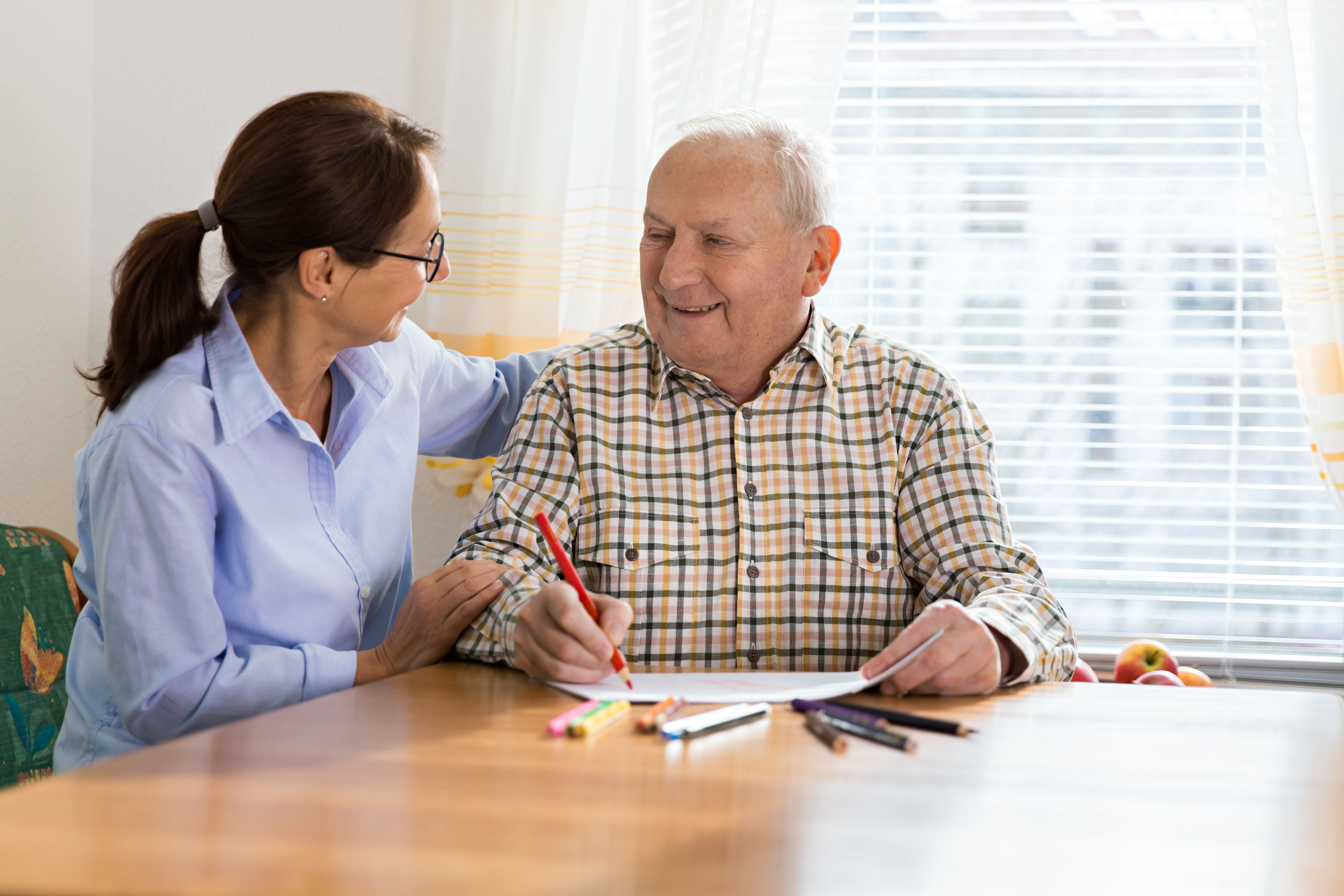 Occupational therapy assistant and patient
