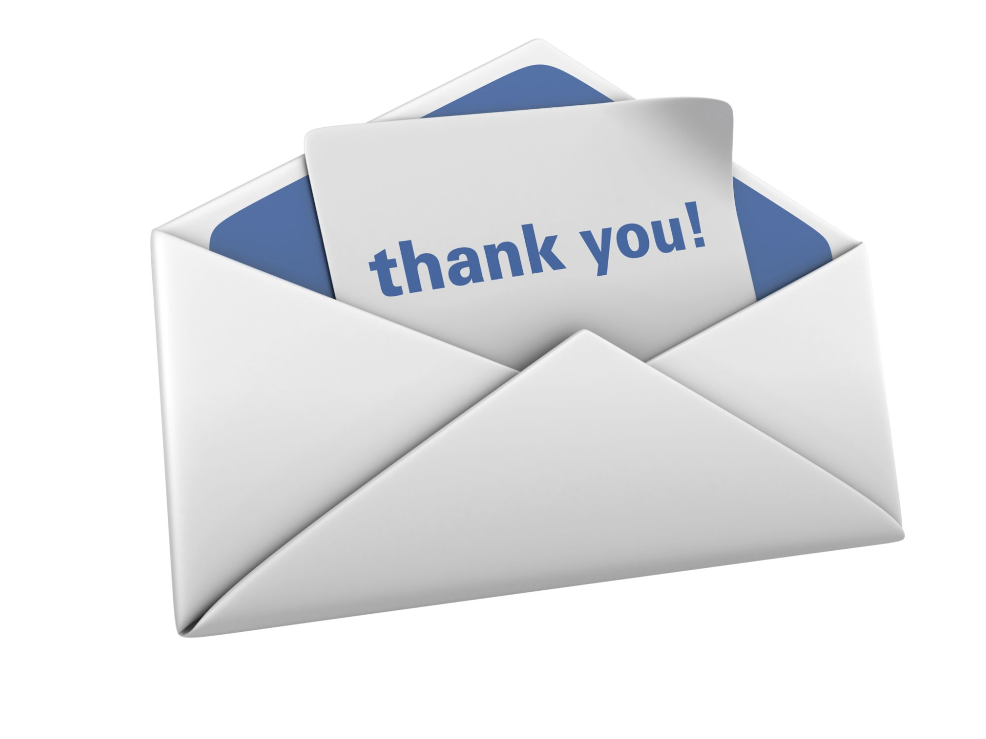 Thank you and envelope