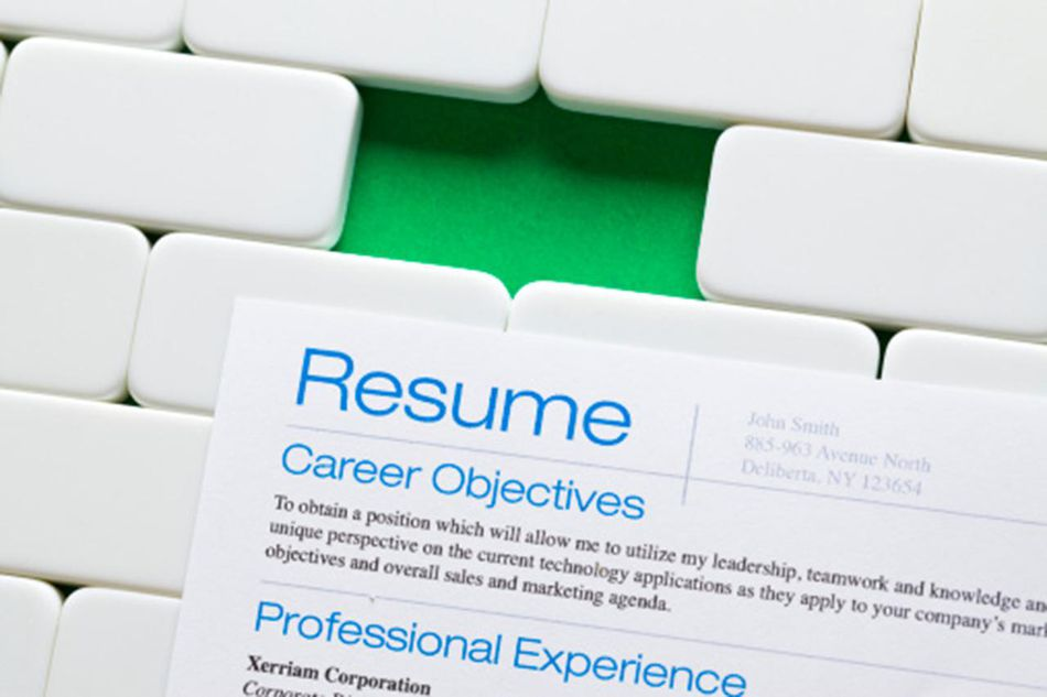 A prospective resume on white tiles