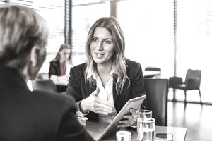 Business People at the Cafe Restaurant