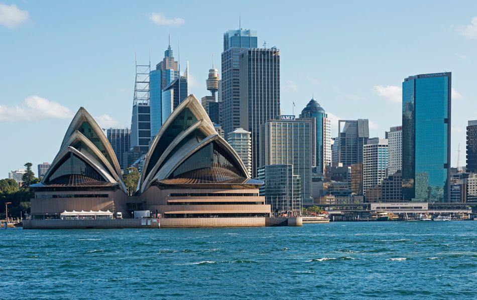 Sydney Opera House and waterfront, Sydney, Australia