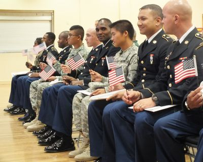Naturalization Ceremony of Military Members