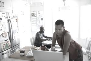 Freelancers working at home