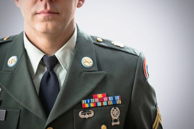 a member of the military in uniform