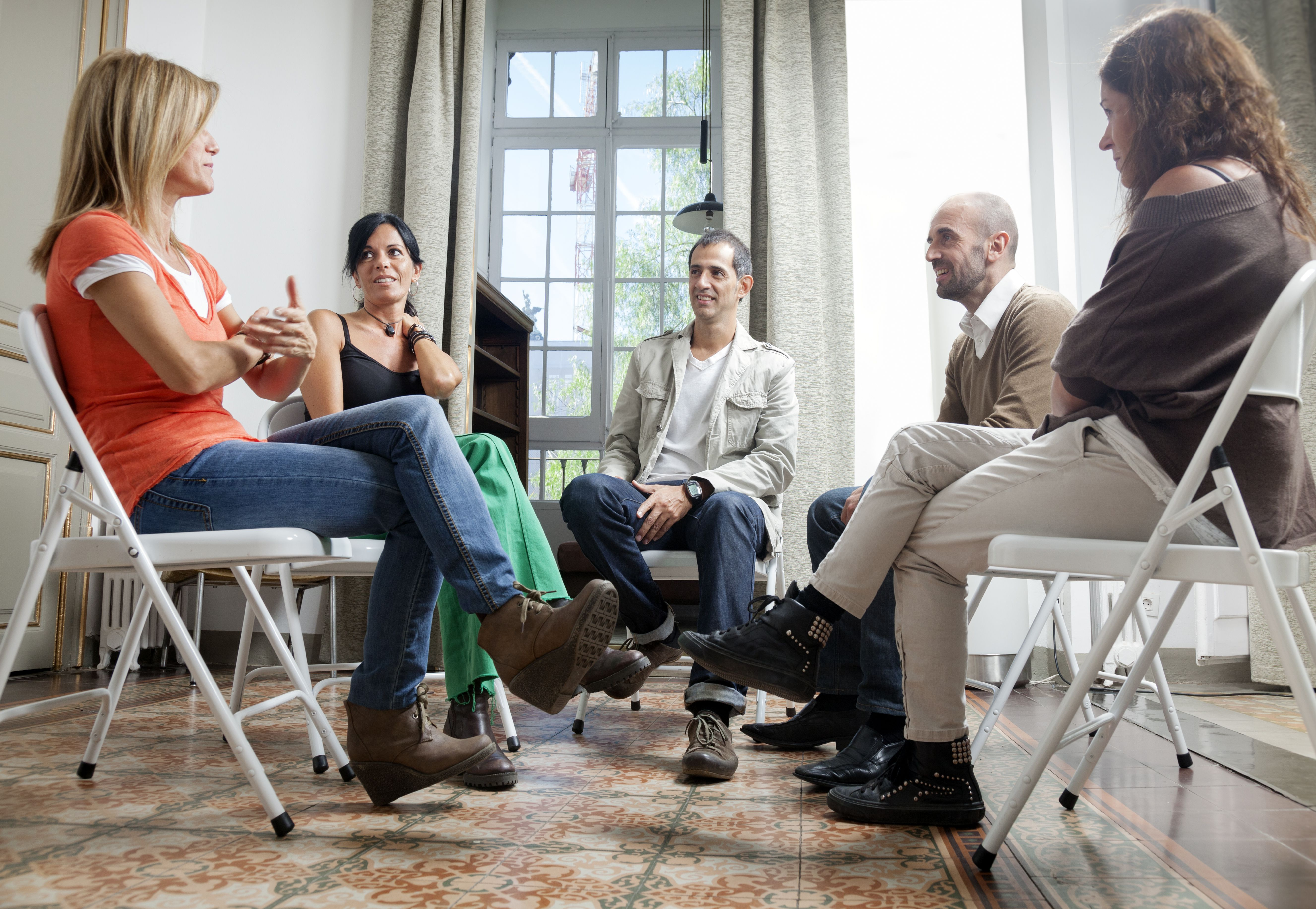 Group therapy at a substance abuse facility