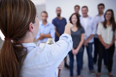 A casting director selecting actors for a theatrical production.