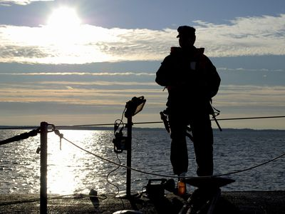 Annapolis, Maryland, October 25, 2009 - Sonar Technician stands sentry aboard the Los Angeles-class attack submarine USS Annapolis.