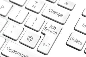 On-line job search computer keyboard