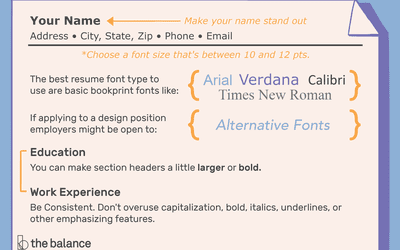 tips for choosing the best font size for resumes
