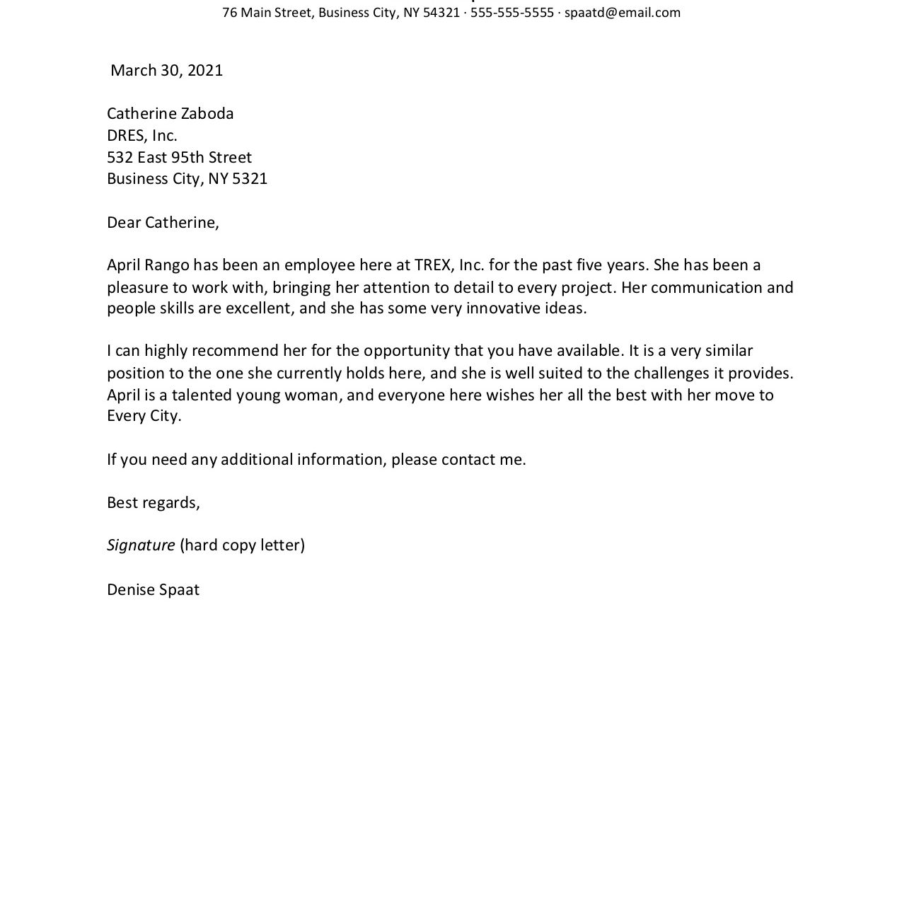How to write a good job reference letter medical research paper