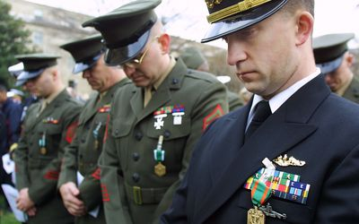 Wearing Military Medals and Ribbons on Civilian Clothes