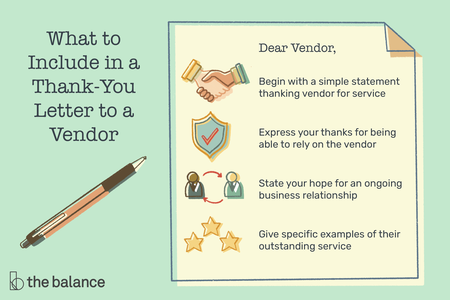 Examples Of Business Thank You Letters For A Vendor