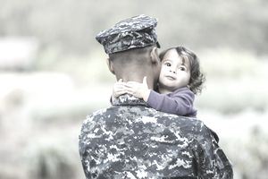 US military father with baby girl