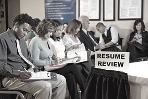 Applicants at Job Fair