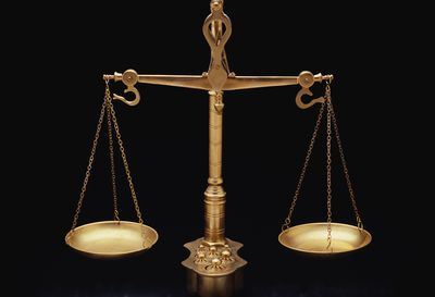 the golden scales of justice