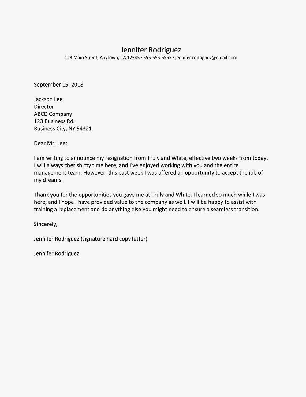 No notice resignation letter example and writing tips expocarfo