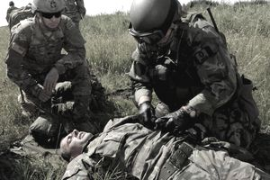 A U.S. Army Special Forces medical sergeant