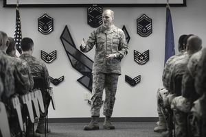 CMSAF speaks to Airmen