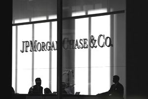 view from outside the offices JP Morgan Chase & Co
