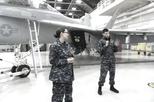Our Two EAWS Instructors AT2 Fairchild & Lt. Kurz :-)
