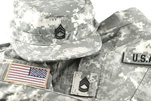 US Army Camouflage Uniform and Cap