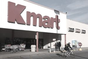 A customer leaves a Kmart store