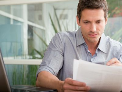 Man reading letter from employee asking for a full-time position