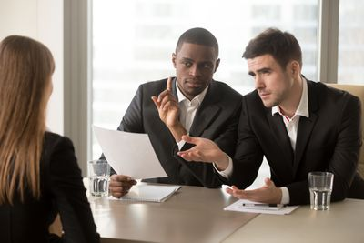 Being questioned about details on a resume by interviewers