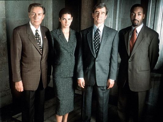 The Cast Of Law & Order From L R: Jerry Orbach (As Det Lennie Briscoe Angie Harmon