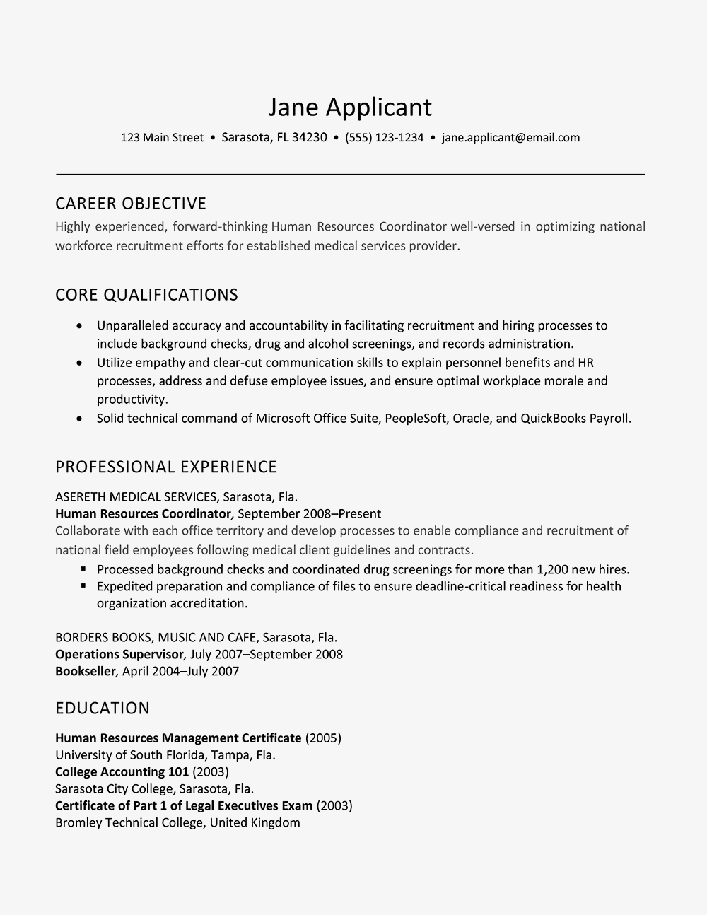 Human Resources Career Objective Resume Example And Writing Tips