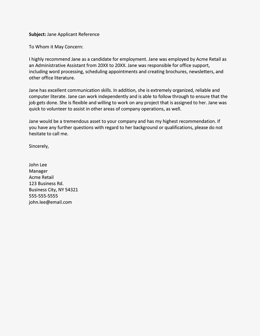 Recommendation Letter From Employer Suyhi Margarethaydon Com