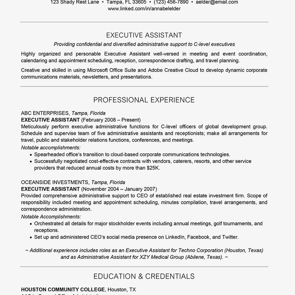 how many years of experience to list on your resume