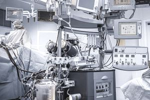 Mechanical, hydraulic, electronic, and digital medical equipment in an operating room maintained by an Army 68A Biomedical Equipment Specialist