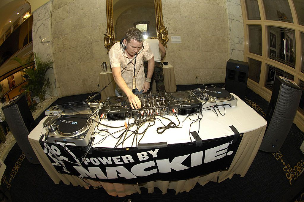 DJ Mick spins at Winter Music Conference at the Miami Beach Resort