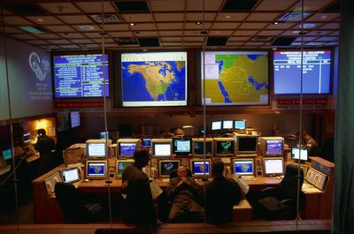 Interior view of an Army Operations Command Center