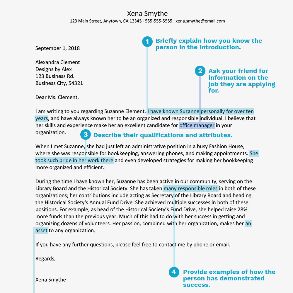 Personal Letter Of Recommendation Sample For A Friend from www.thebalancecareers.com