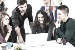 Millennial employees discuss career success with their employer.