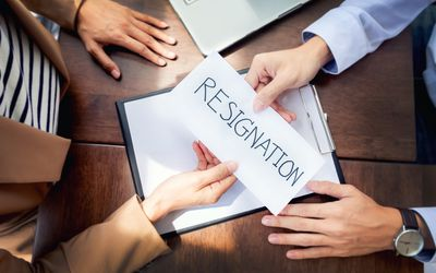 here is a resignation letter sample thanking your company