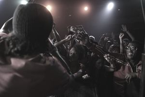 Musician and fans